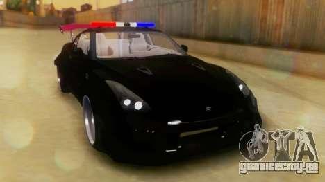 Nissan GT-R Police Rocket Bunny для GTA San Andreas вид справа