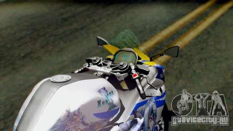 Yamaha YZF R-25 Kos-Mos Xenosaga Itasha 2014 для GTA San Andreas вид сзади