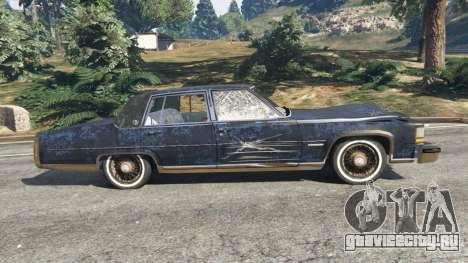 Cadillac Fleetwood Brougham 1985 [rusty] для GTA 5 вид слева