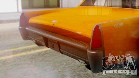 GTA 5 Vapid Chino Tunable для GTA San Andreas вид изнутри