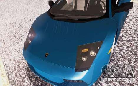 Lamborghini Murcielago 2005 для GTA San Andreas вид снизу
