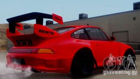 Porsche 993 GT2 RWB Rough Rhythm для GTA San Andreas вид слева