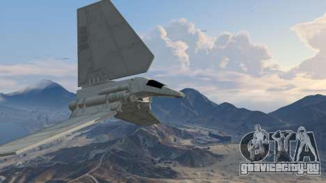 Star Wars: Imperial Shuttle Tydirium для GTA 5 четвертый скриншот