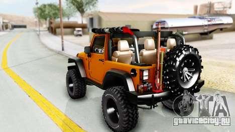 Jeep Wrangler Off Road для GTA San Andreas вид слева