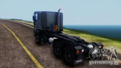 Iveco EuroTech v2.0 Cab Low для GTA San Andreas вид сзади слева