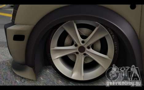 Ford Connect Rizeli для GTA San Andreas вид сзади слева