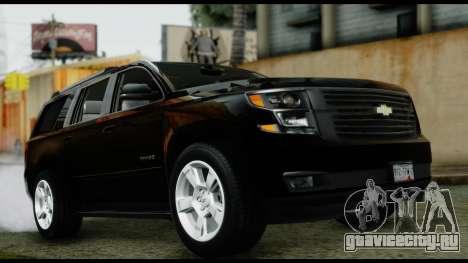 Chevrolet Tahoe 2015 для GTA San Andreas вид справа