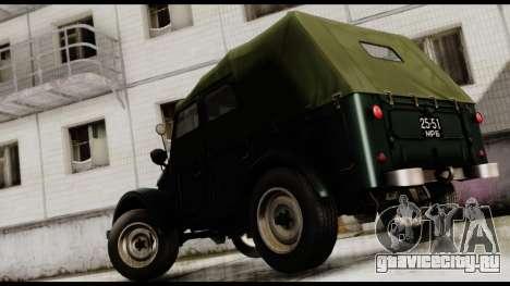 ГАЗ-69А для GTA San Andreas вид слева