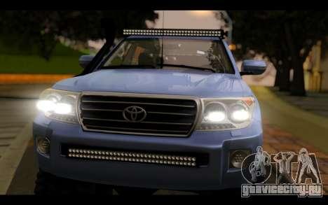 Toyota Land Cruiser 200 2013 Off Road для GTA San Andreas вид справа