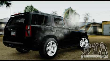 Chevrolet Tahoe 2015 для GTA San Andreas вид слева