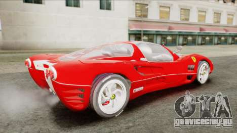 Ferrari P7 Chromo для GTA San Andreas вид сзади слева
