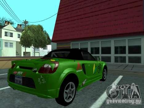 Toyota MR-S Tunable для GTA San Andreas вид справа