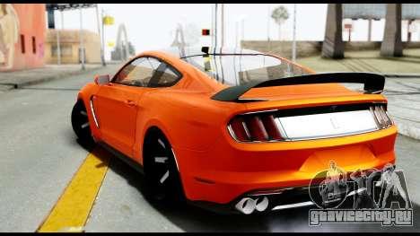 Ford Mustang Shelby GT350R 2016 для GTA San Andreas вид слева