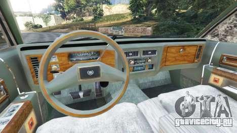 Cadillac Fleetwood Brougham 1985 [rusty] для GTA 5 вид сзади справа