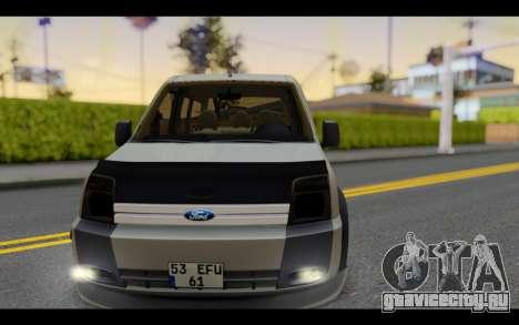 Ford Connect Rizeli для GTA San Andreas вид сзади