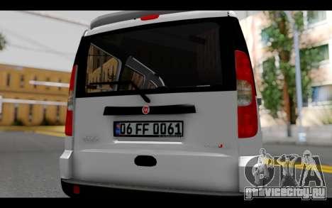 Fiat Doblo для GTA San Andreas вид изнутри