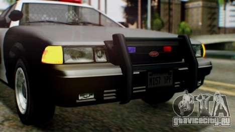 GTA 5 Police LV для GTA San Andreas вид сбоку