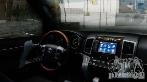 Toyota Land Cruiser 200 2016 Bulkin Edition для GTA San Andreas вид справа