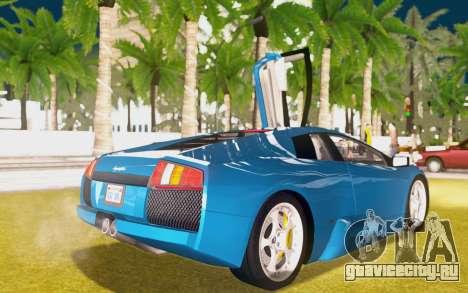Lamborghini Murcielago 2005 для GTA San Andreas вид сверху