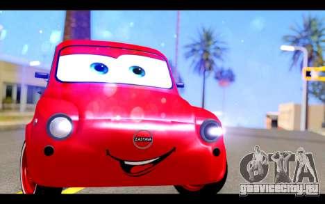 Zastava 750 - The Cars Movie для GTA San Andreas вид сзади