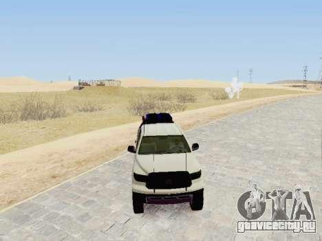 Toyota Tundra 2012 Semi-Off-road для GTA San Andreas вид справа