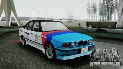 BMW M5 E34 US-spec 1994 (Full Tunable) для GTA San Andreas вид сзади