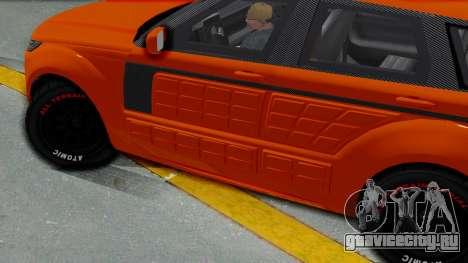 GTA 5 Gallivanter Baller LE Arm IVF для GTA San Andreas вид сзади слева