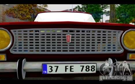 Fiat 124 для GTA San Andreas вид сбоку