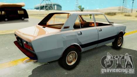 Fiat 132 для GTA San Andreas вид сзади слева