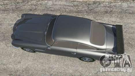 Aston Martin DB5 Vantage 1965 для GTA 5 вид сзади