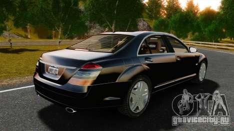 Mercedes-Benz S600L 2008 для GTA 4 вид сзади слева
