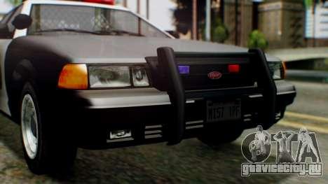 GTA 5 Police LV для GTA San Andreas вид изнутри