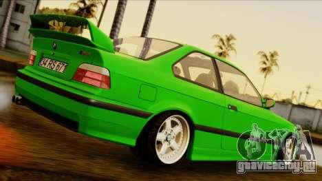 BMW M3 E36 [34RS671] для GTA San Andreas вид сзади слева