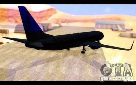 Boeing 737-800 American Airlines для GTA San Andreas вид сзади слева