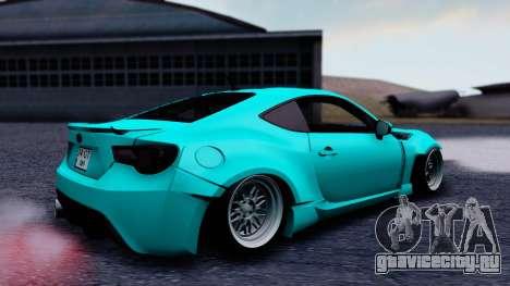 Toyota GT86 Rocket Bunny для GTA San Andreas вид сзади слева