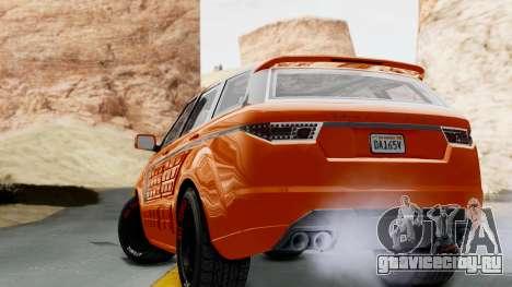GTA 5 Gallivanter Baller LE Arm IVF для GTA San Andreas вид слева
