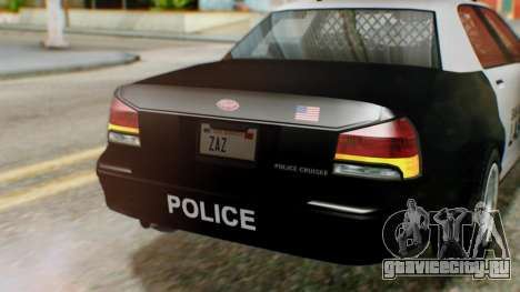 GTA 5 Police LV для GTA San Andreas вид сзади
