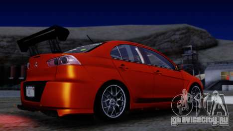 Mitsubishi Lancer Evolution X Tunable New PJ для GTA San Andreas вид сбоку