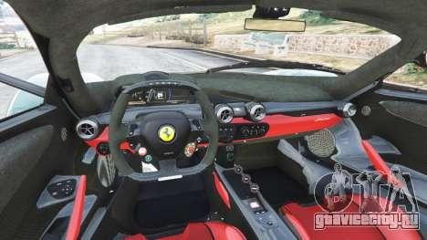 Ferrari LaFerrari 2015 v1.2 для GTA 5 вид сзади справа