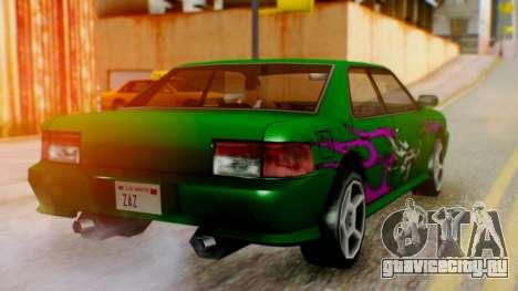 Sultan Винил из Need For Speed Underground 2 для GTA San Andreas вид слева