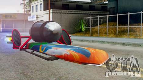 Flying Hovercraft New Skin для GTA San Andreas вид сзади слева