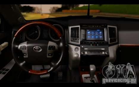 Toyota Land Cruiser 200 2013 Off Road для GTA San Andreas вид сзади слева
