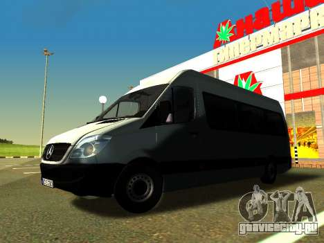 Mercedes-Benz Sprinter Long для GTA San Andreas вид сбоку