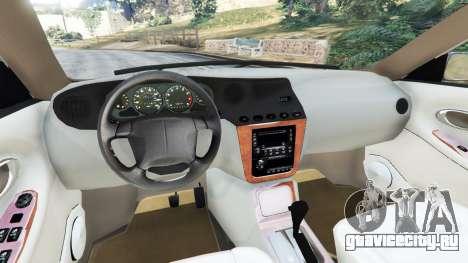Daewoo Leganza US 2001 для GTA 5 вид сзади справа