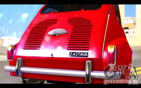 Zastava 750 - The Cars Movie для GTA San Andreas вид изнутри