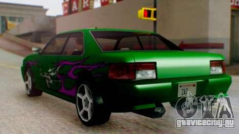 Sultan Винил из Need For Speed Underground 2 для GTA San Andreas вид сзади слева