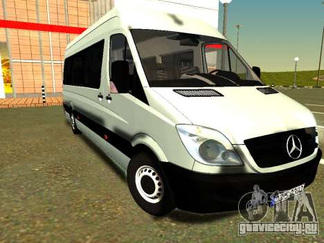 Mercedes-Benz Sprinter Long для GTA San Andreas вид сзади