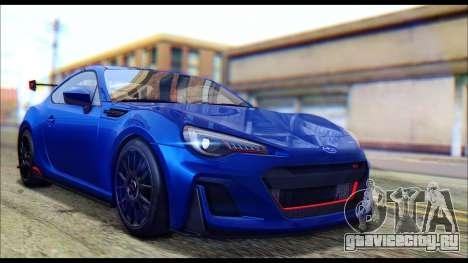 Subaru BRZ STi Concept 2016 для GTA San Andreas вид сзади слева