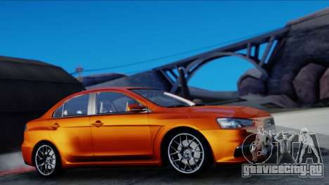 Mitsubishi Lancer Evolution X Tunable New PJ для GTA San Andreas