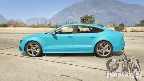 Audi RS7 для GTA 5 вид слева